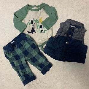 Cute baby boy fall outfit